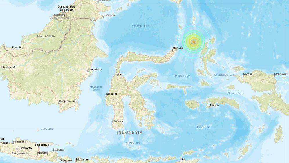 Potres u Malučkom moru (Foto: Američki geološki zavod)