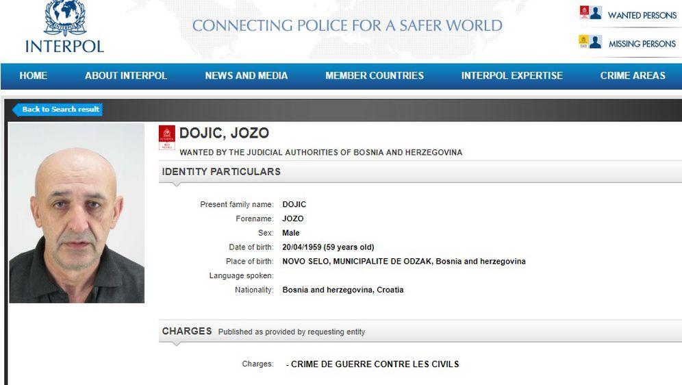 Tjeralica za Jozom Đojićem (Foto: screenshot Interpol)