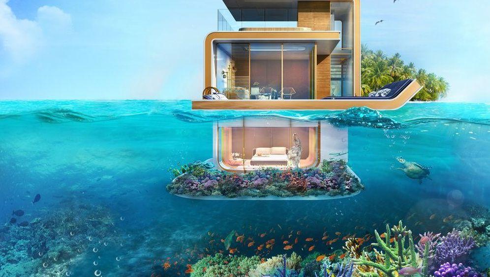 Plutajuće vile s podvodnim sobama