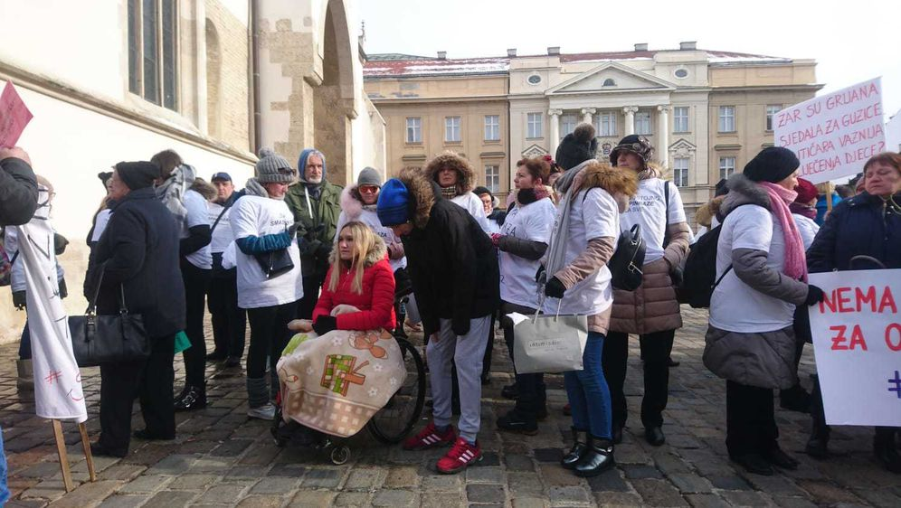 Prosvjed na Markovom trgu (Foto: Dnevnik.hr) - 5