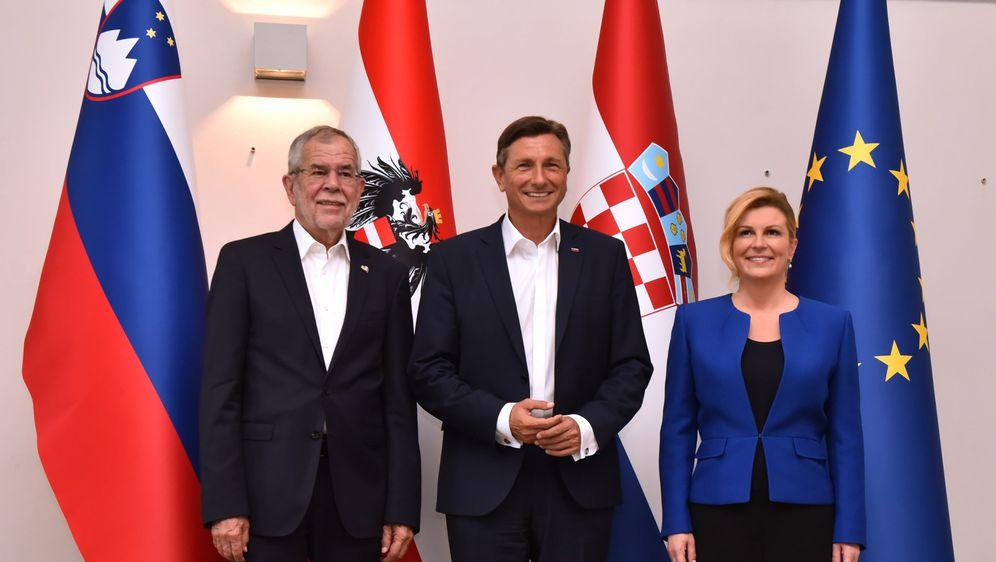 Predsjednica s austrijskim i slovenskim kolegama (Foto: Twitter/Ured Predsjednice)