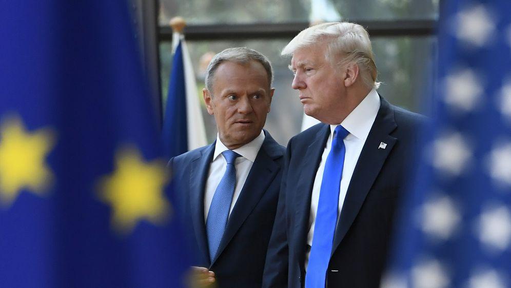Donald Tusk i Donald Trump (Foto: AFP)