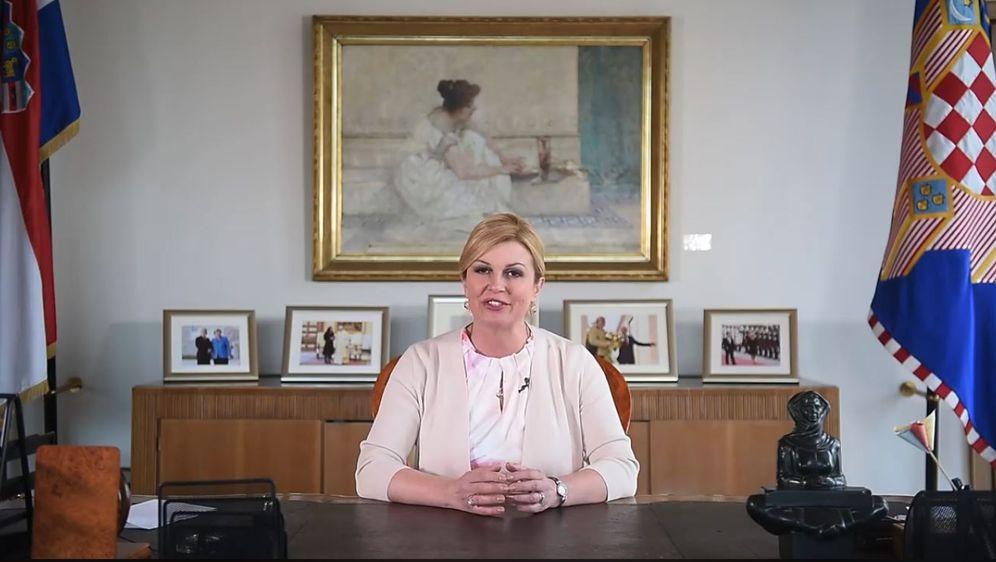 Obraćanje Predsjednice Kolinde Grabar-Kitarović o finalu u Rusiji (Foto: Dnevnik.hr)