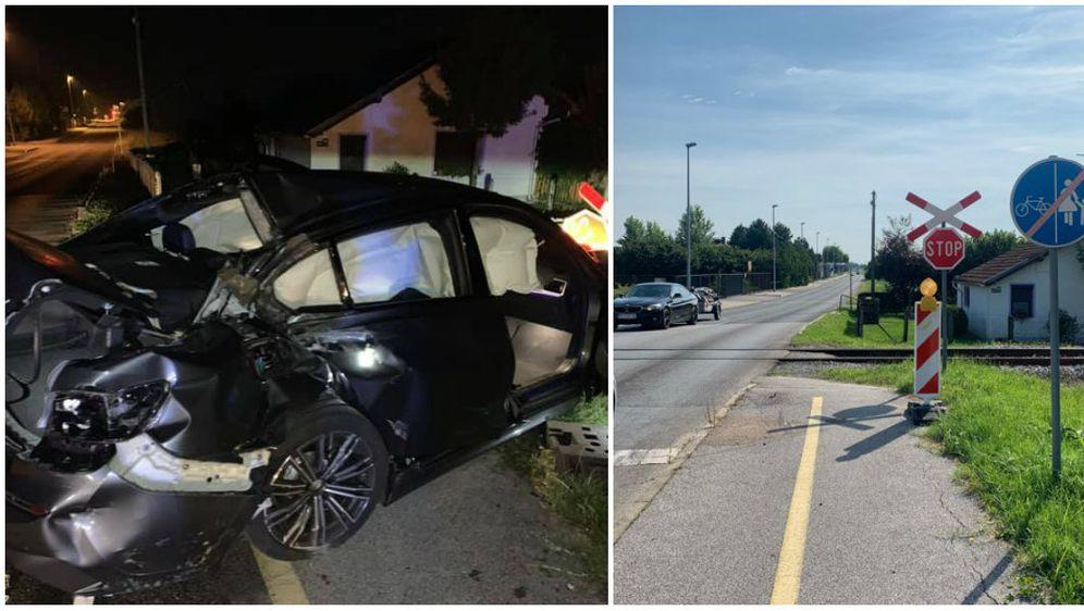 Nesreća na pružnom prijelazu (Foto: Saša Maček, Facebook)