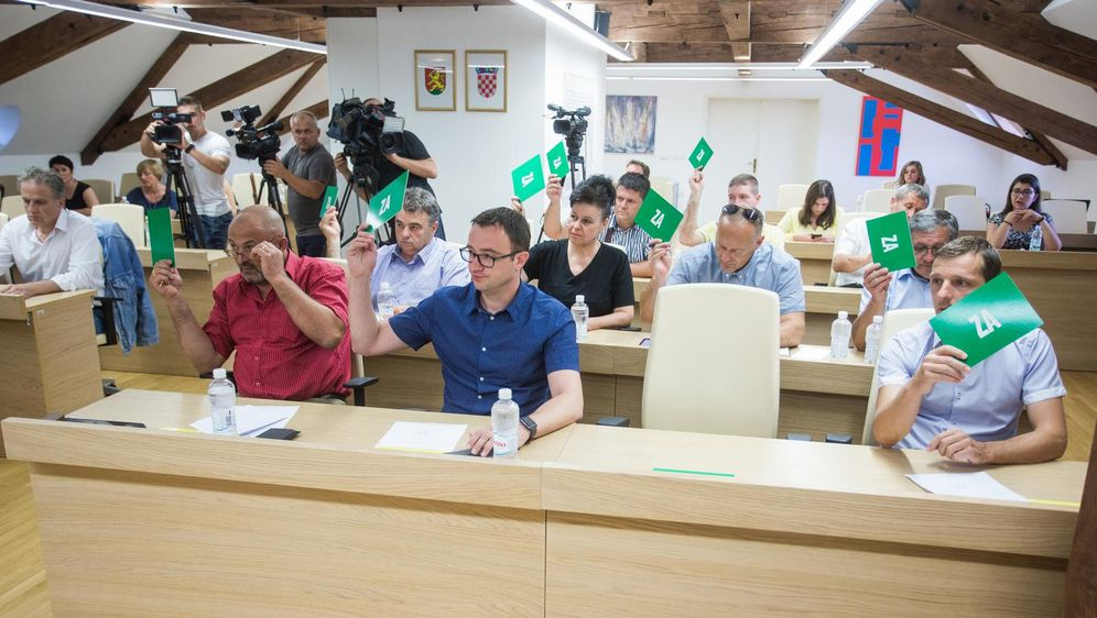 Izvanredna sjednica Gradskog vijeća Virovitice (Foto: Davor Javorovic/PIXSELL)