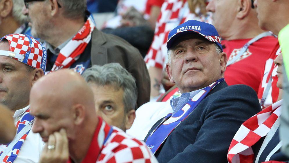 Kalinjingrad: Ivo Sanader s tribina je pratio utakmicu Hrvatske i Nigerije (Foto: Igor Kralj/PIXSELL)