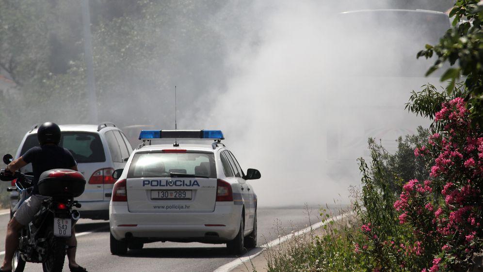 Požar na autobusu, ilustracija (Foto: Dusko Jaramaz/PIXSELL)