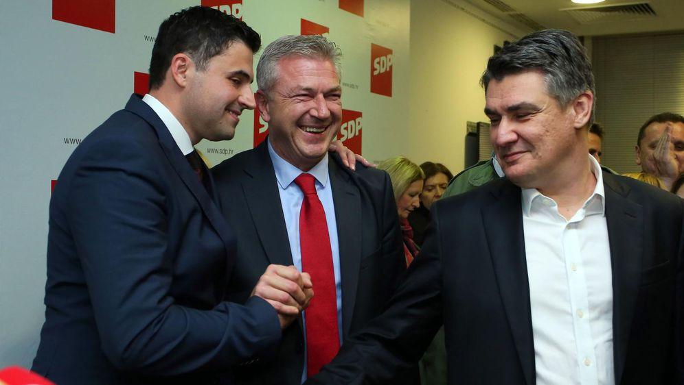 Davor Bernardić, Ranko Ostojić i Zoran Milanović (Foto: Jurica Galovic/PIXSELL)