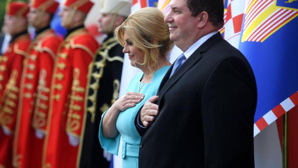 Kolinda Grabar-Kitarović i Jakov Kitarović na svečanom prijamu (Foto: Marko Lukunic/PIXSELL)
