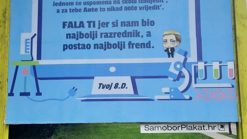 Plakat u Samoboru osmaši posvetili profesoru biologije Anti Ševi