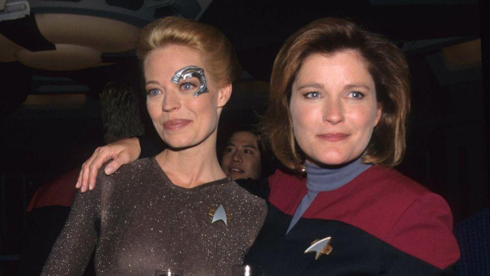 Jeri Ryan (Seven of Nine) i Kate Mulgrew (Kathryn Janeway)