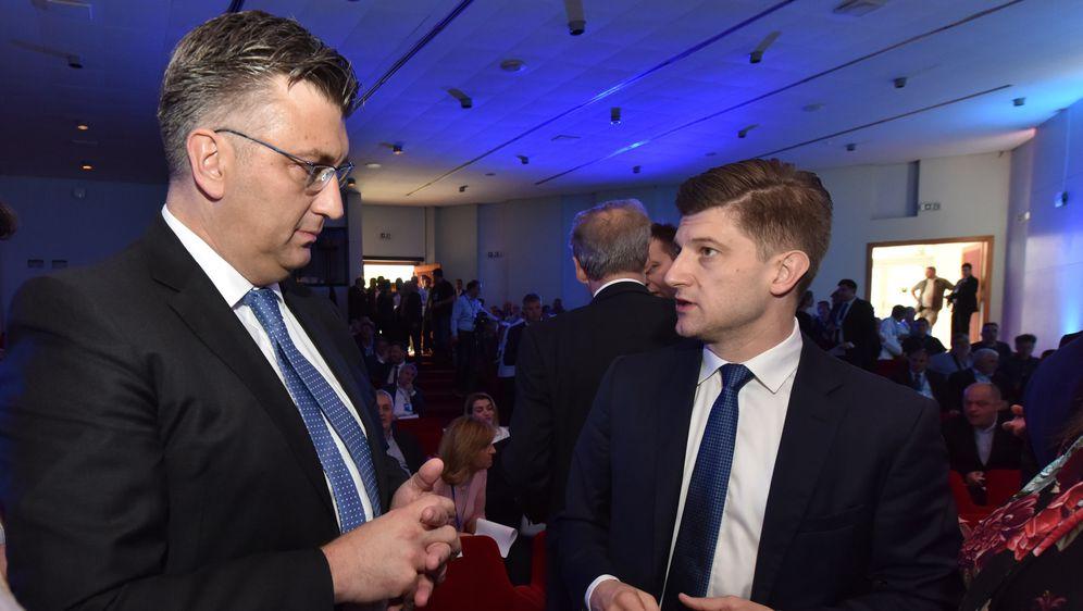 Andrej Plenković i Zdravko Marić (Foto: Hrvoje Jelavic/PIXSELL)
