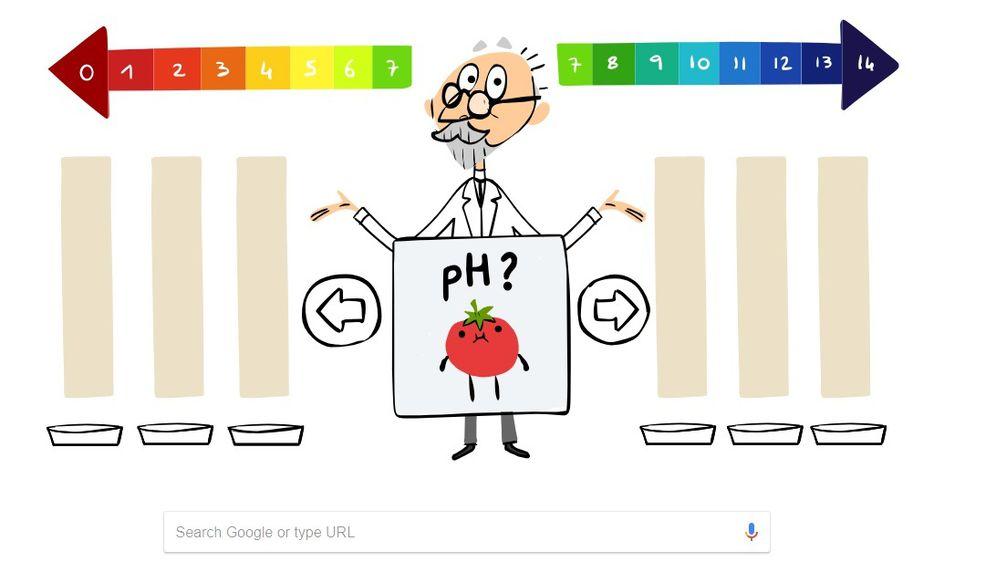 Google Doodle posvećen danskom kemičaru (Foto: screenshot/Google)