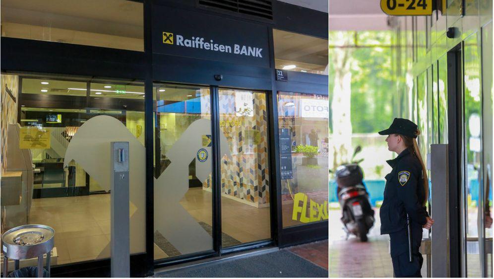 Opljačkana poslovnica banke u Zagrebu (Foto: Matija Habljak/PIXSELL)