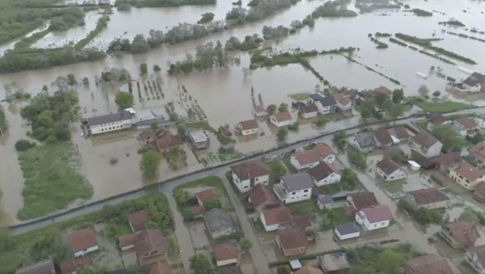 Poplave u Prijedoru (Foto: Screesnhot/Darko Vujasinović video)