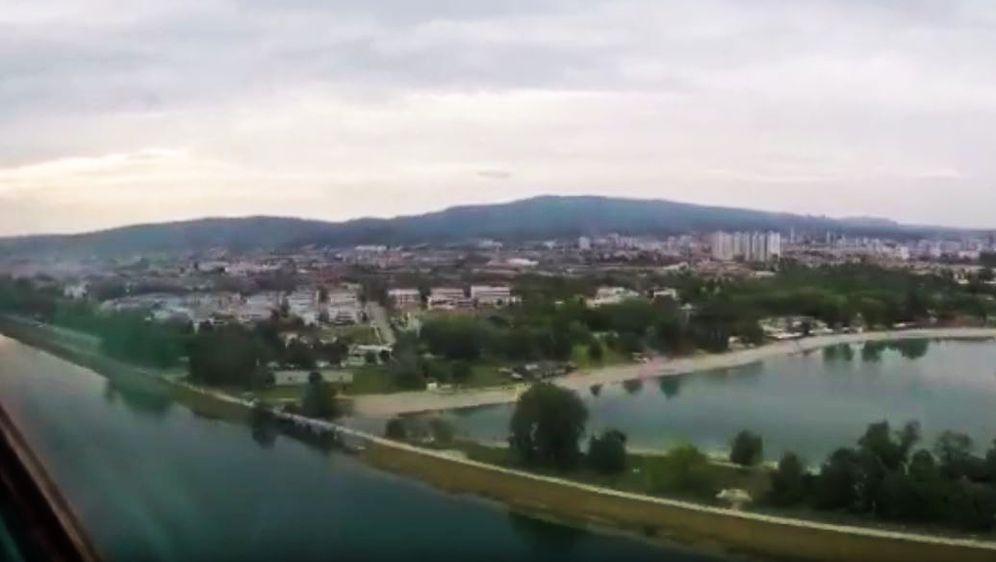 MiG-21 HRZ-a u brišućem letu iznad jarunskog jezera (Screenshot: Ministarstvo obrane Republike Hrvatske/YouTube)