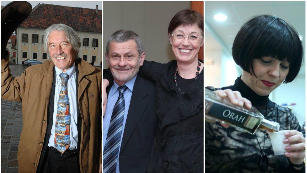 Boris Mikšić, Dragutin Lesar i Nansi Tireli i Mirela Holy (Foto: PIXSELL)