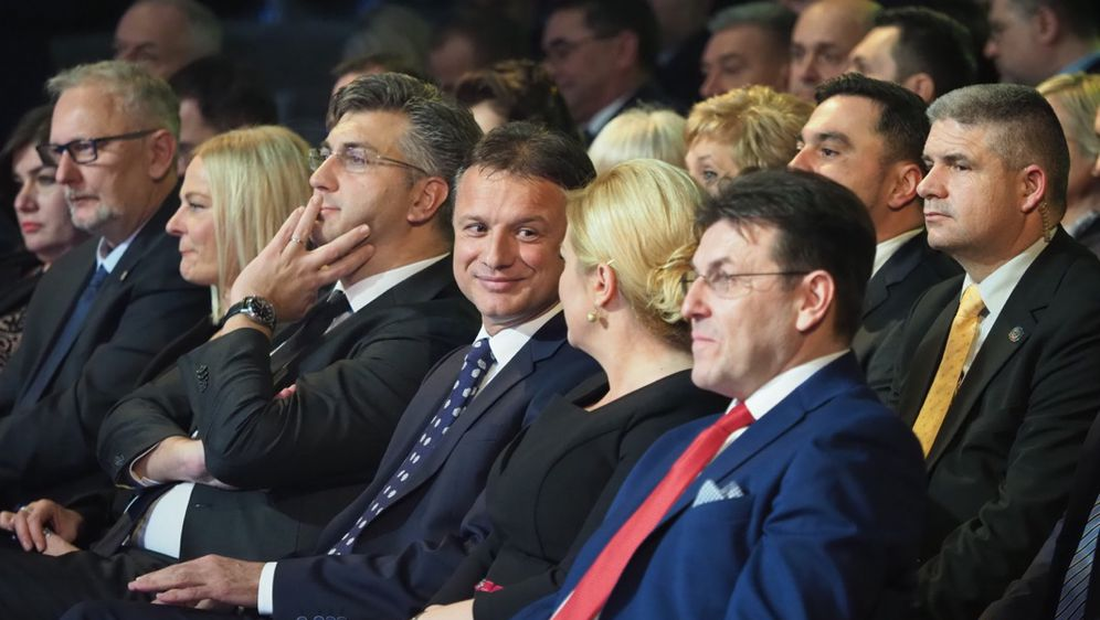Andrej Plenković, Gordan Jandroković i Kolinda Grabar Kitarović (Foto: Romeo Ibrišević)