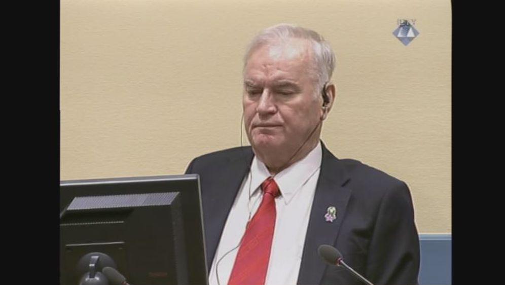 Ratko Mladić na izricanju presude (Screenshot: Reuters)