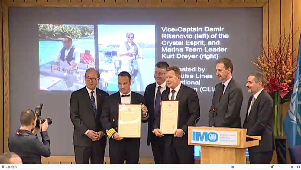 Damir Rikanović (drugi slijeva) na svečanosti dodjele priznanja (Foto: Damir Rikanović)