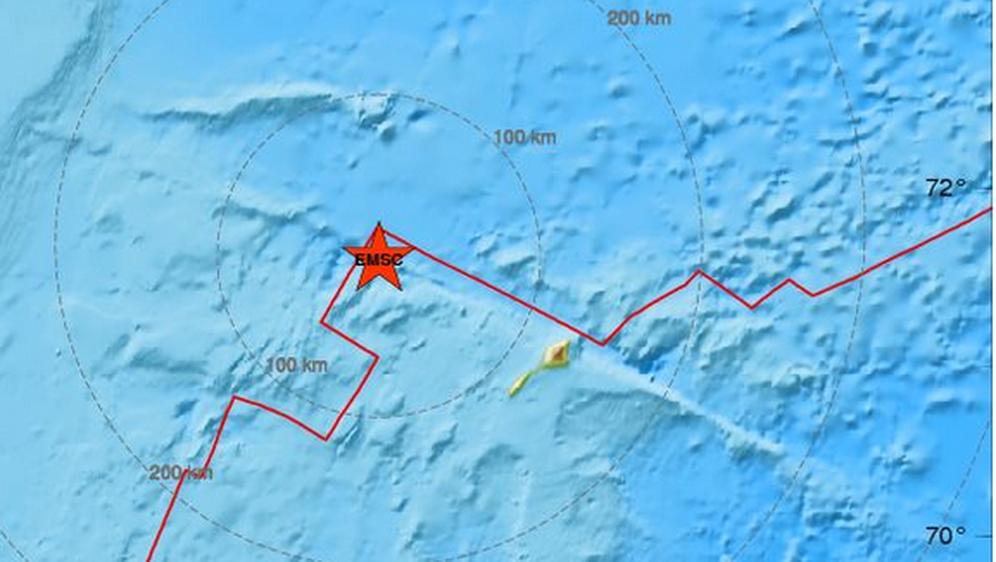 Potres 6.8 na Grenlandu (Foto: Screenshot/emsc-csem.org)