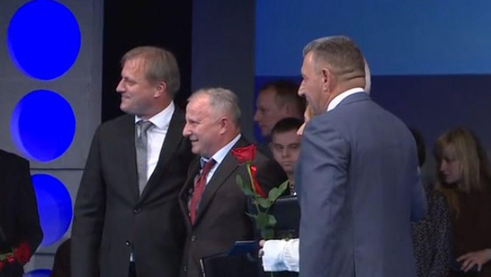 Ante Gotovina s roditeljima Luke Modrića (Foto: screenshot/Vijesti Nove TV)