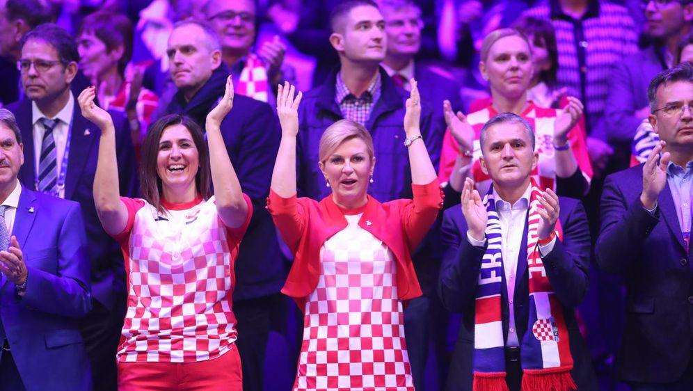Kolinda Grabar-Kitarović na finalu Davic Cupa (Foto: Sanjin Strukic/PIXSELL)
