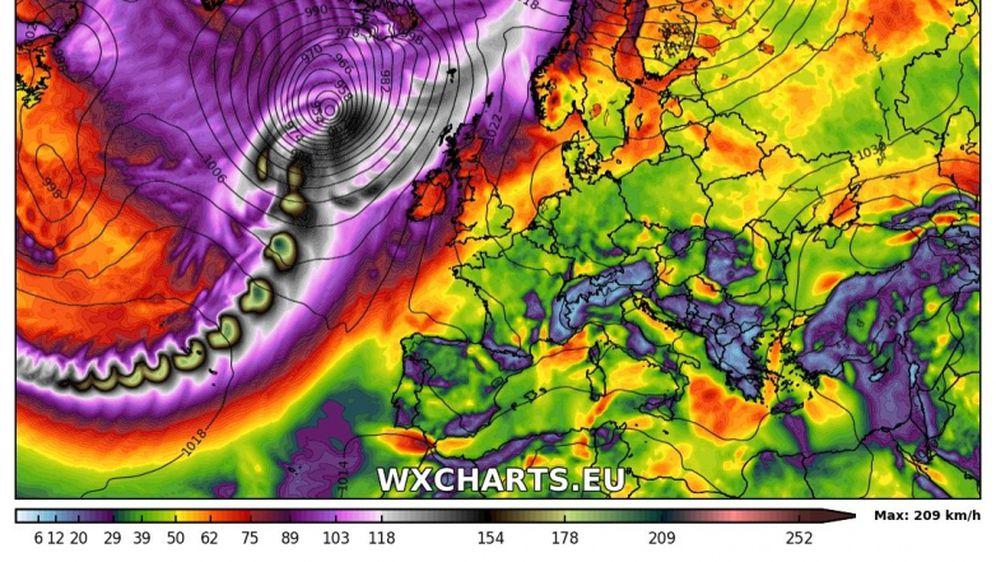 Uragan Leslie (Screenshot: MetDesk)