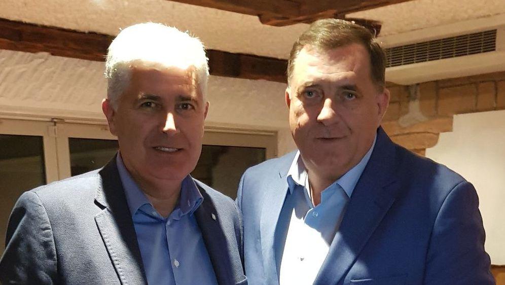 Dragan Čović i Milorad Dodik (Foto: Twitter/Dragan Čović)