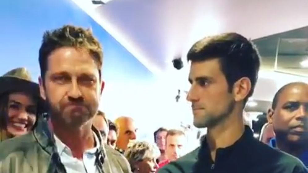 Gerard Butler i Novak Đoković (Foto: Screenshot)