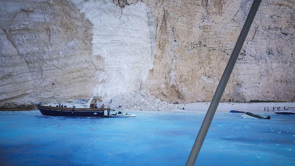 Odron na plaži u Grčkoj (Foto: AFP)