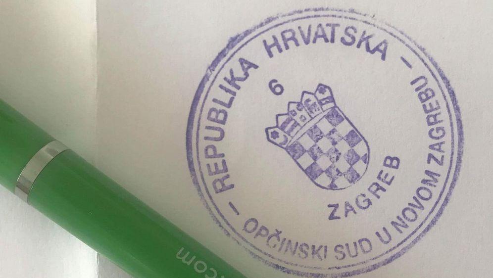 Pečat Općinskog suda u Novom Zagrebu (Foto: čitatelj)