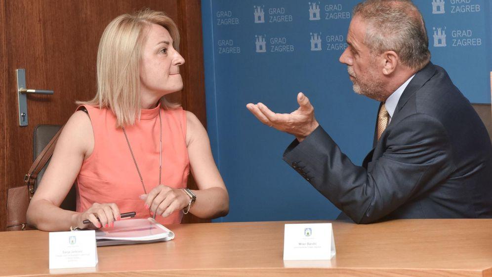 Sanja Jerković i Milan Bandić (Foto: Davorin Visnjic/PIXSELL)