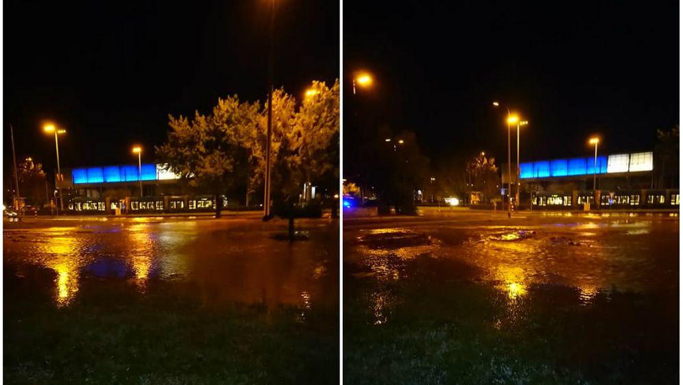Puknuće cijevi u Novom Zagrebu (Foto: facebook/Mario Vidović)