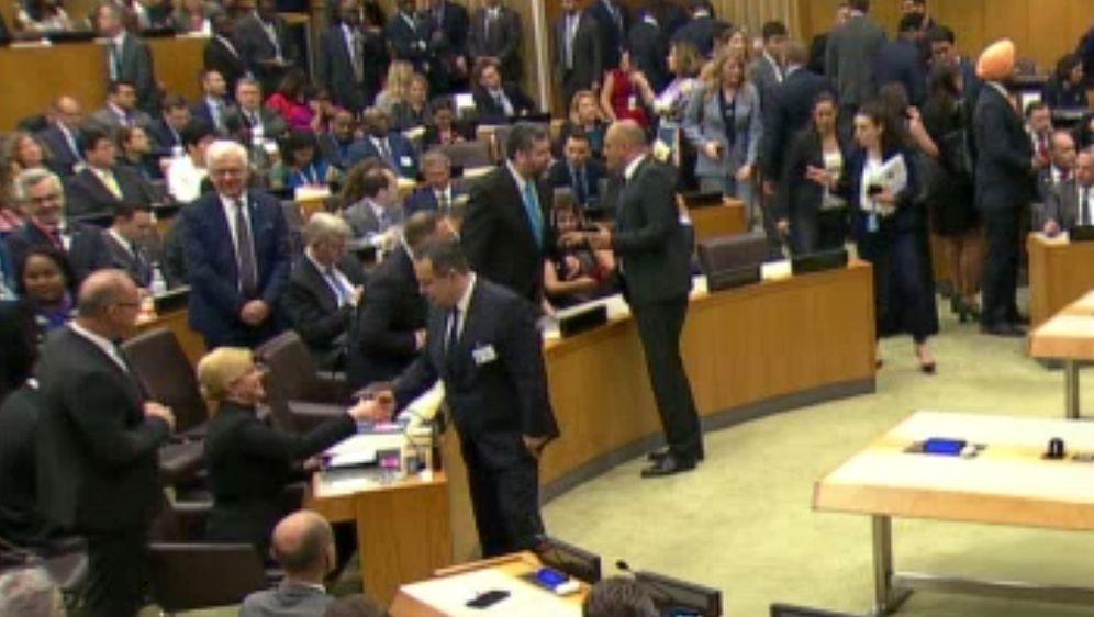 Susret Kolinde Grabar-Kitarović i Ivice Dačića (Foto: screenshot UN)