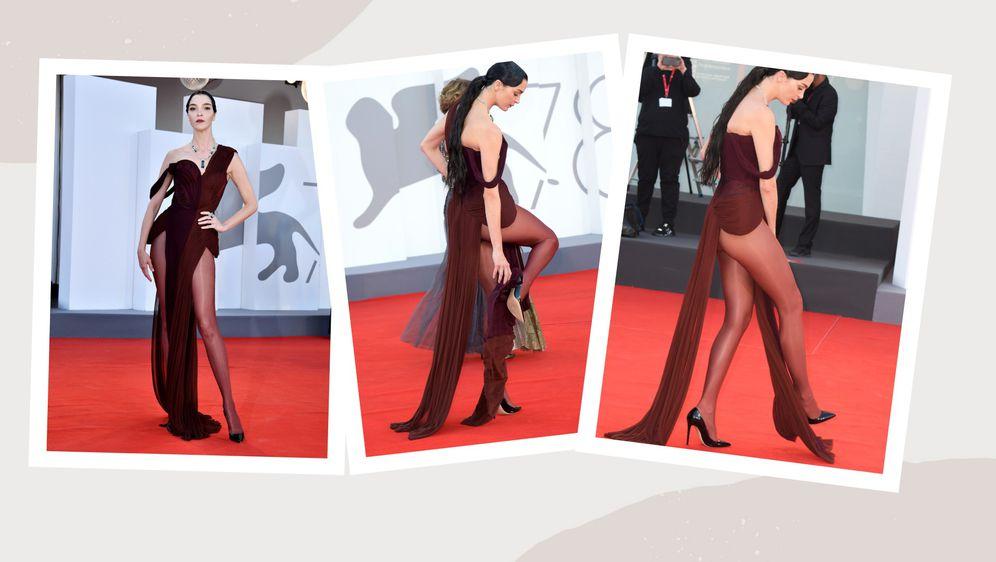 Mariacarla Boscono skoro je pala na crvenom tepihu u Veneciji zbog preduge haljine i previsokih štikla