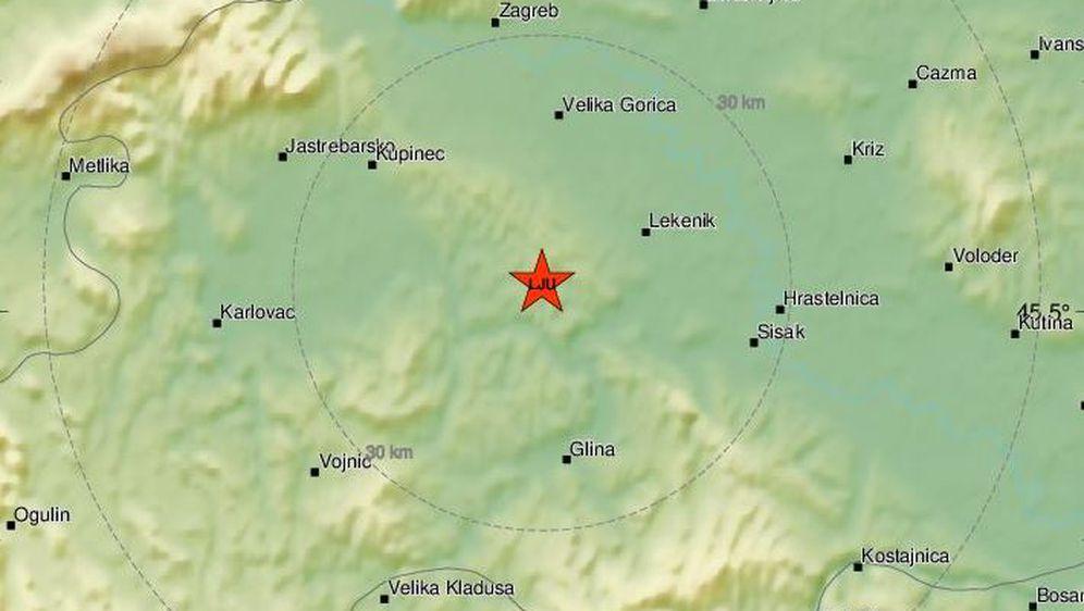 Potres na Banovini, ilustracija